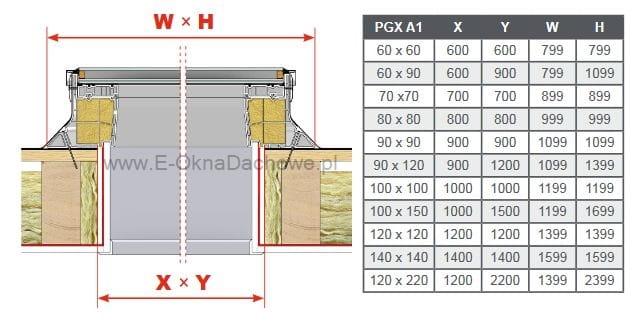 Bardzo dobryFantastyczny Okno do płaskiego dachu OKPOL PGX A1 LED 60x120 E-OknaDachowe.pl MY01
